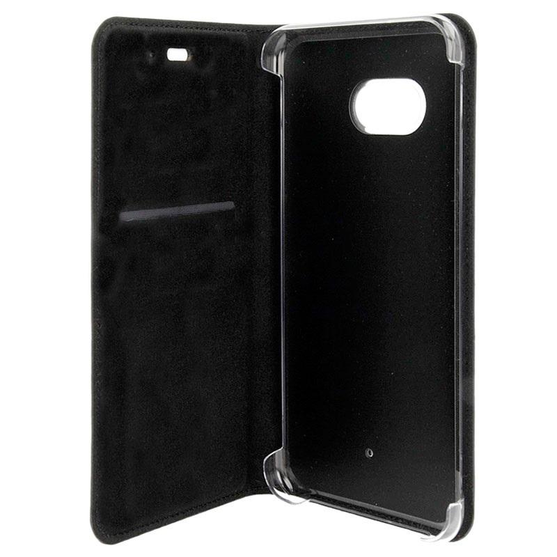 Htc u11 flip leather case hc c1322 dark grey for Housse iphone 5 c