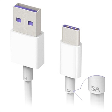 Huawei HL1289 SuperCharge USB Type-C Cable - 1m - White