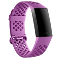 Fitbit Charge 3 Silicone Sport Wristband FB168SBLVL - L
