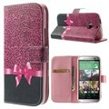 HTC One (M8), One (M8) Dual Sim Wallet Leather Case - Pink Leopard