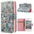 iPhone 4 / 4S Wallet Leather Case - Doodles