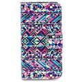 iPhone 4 / 4S Wallet Leather Case - Tribal