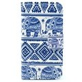 iPhone 4 / 4S Wallet Leather Case - Tribal Elephant