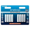 Panasonic Eneloop Rechargeable AAA Batteries BK-4MCCE/8BE - 750mAh - 1x8