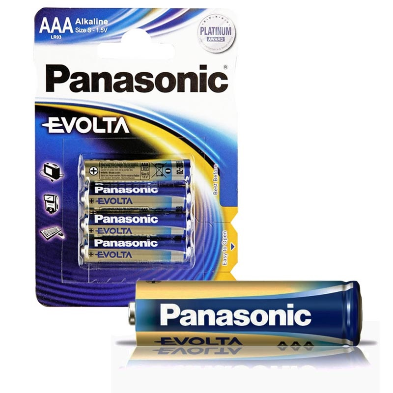 Panasonic Evolta AAA Battery LR03EGE - 1.5V - 1x4