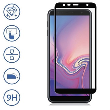 Panzer Premium Full-Fit Samsung Galaxy J6+, Galaxy J4+ Tempered Glass Screen Protector - Black