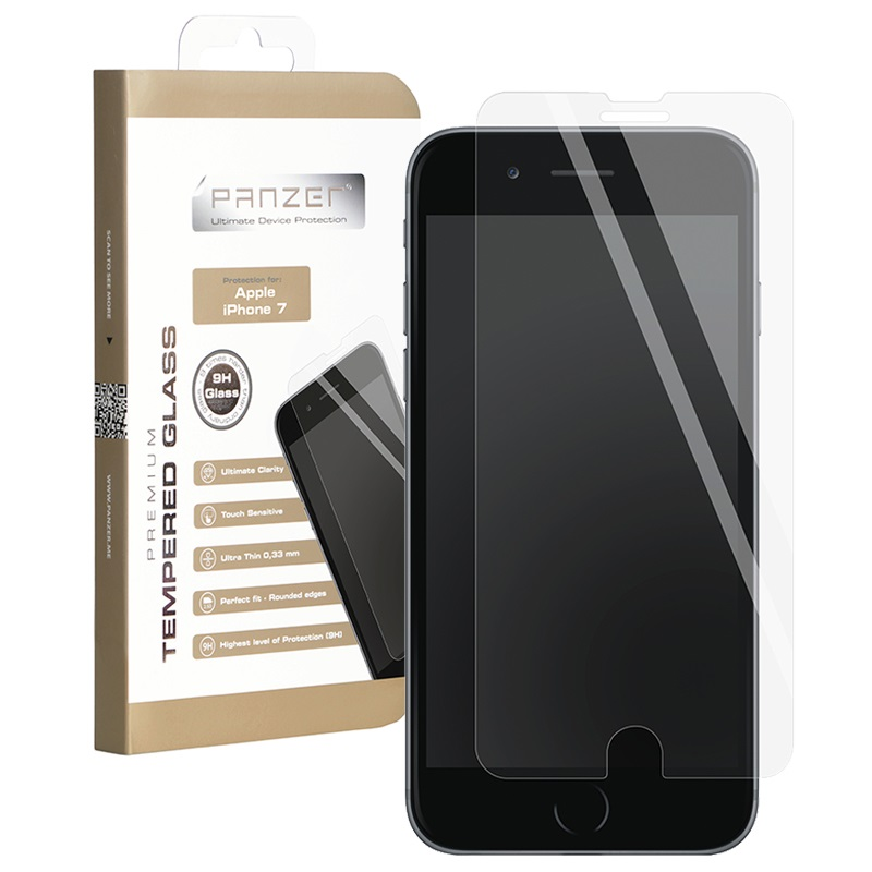 iPhone 7 Plus / iPhone 8 Plus Panzer Tempered Glass Screen Protector