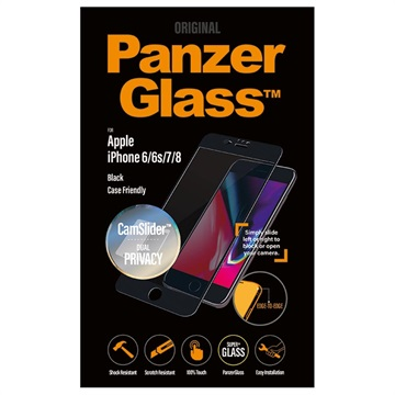 PanzerGlass CF Privacy iPhone 6/6S/7/8 Screen Protector - CamSlider