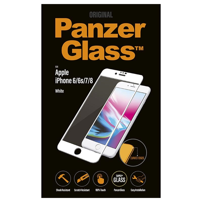 PanzerGlass Premium Curved iPhone 6/6S/7/8 Tempered Glass Screen Protector - White