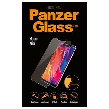 PanzerGlass Edge-to-Edge Xiaomi Mi 8 Screen Protector - Black