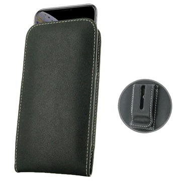 PDair iPhone XS Leather Pouch - Black