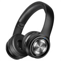 Picun P26 Foldable Wireless Headphones with MicroSD and AUX - Black