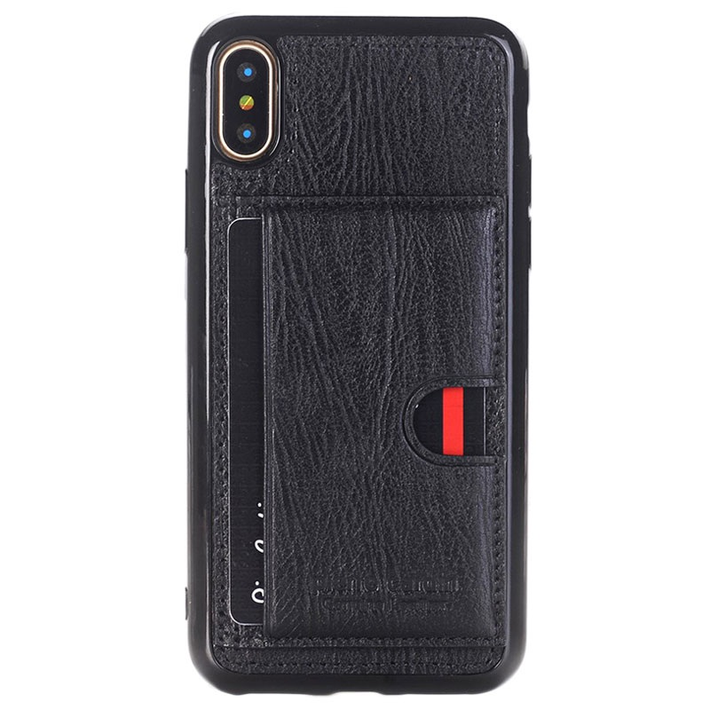 iPhone X Pierre Cardin Leather Coated TPU Case with Kickstand