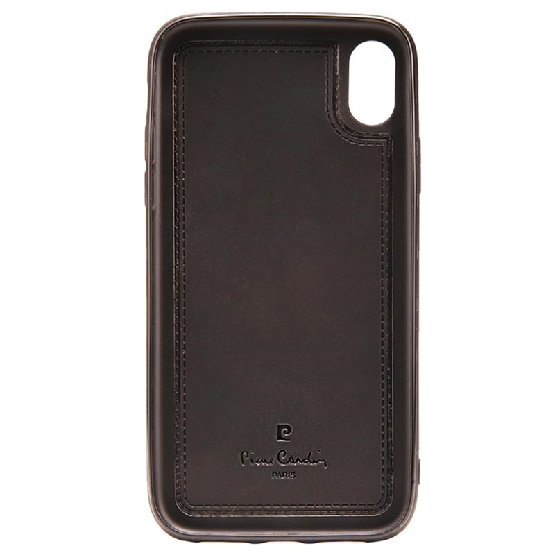 Pierre Cardin Leather Coated iPhone XR TPU Case with Kickstand