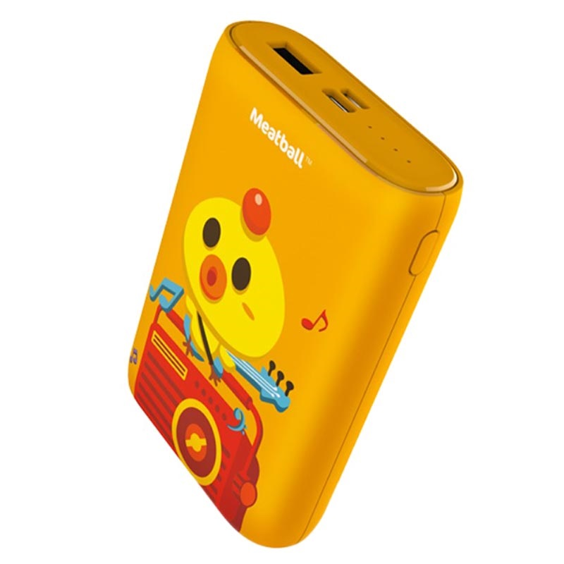 Pisen Meatball Stylish Power Bank - 10000mAh - Orange