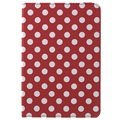 iPad Mini 4 Polka Dot Rotary Case - Red / White