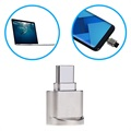 Portable USB 3.1 Type-C / MicroSD OTG Card Reader - Silver