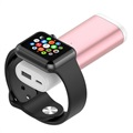 Portable Apple Watch Wireless Charger / Power Bank - Rose Gold