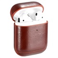 Premium AirPods / AirPods 2 Case with Carabiner - Brown