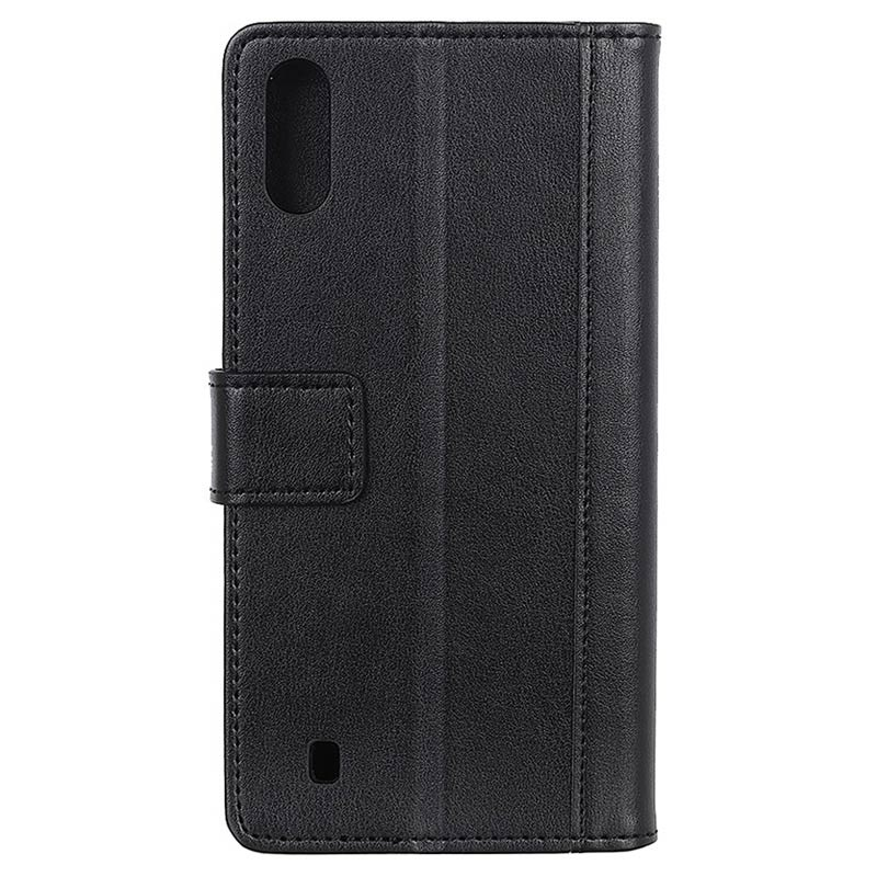 Premium Samsung Galaxy A10 Wallet Case with Kickstand Feature - Black