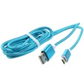 Premium USB 2.0 / MicroUSB Cable - Blue