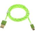 Premium USB 2.0 / MicroUSB Cable - Green