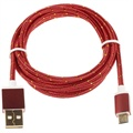 Premium USB 2.0 / MicroUSB Cable - Red