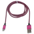 Premium USB 2.0 / MicroUSB Cable - 3m - Hot Pink