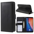 Huawei Mate 10 Lite Premium Wallet Case with Stand Feature - Black