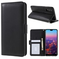 Huawei P20 Premium Wallet Case with Stand Feature - Black