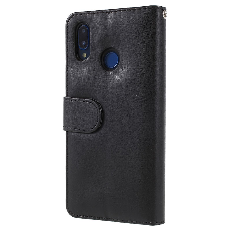 Huawei P20 Lite Premium Wallet Case with Stand Feature - Black