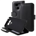 LG G6 Premium Wallet Case with Stand Feature - Black