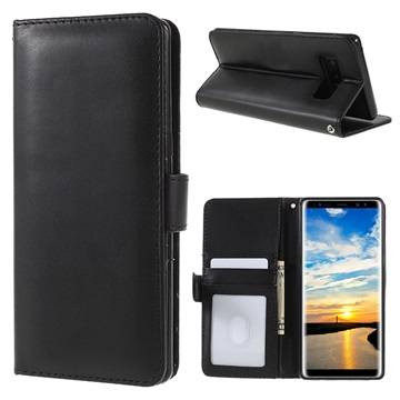 Samsung Galaxy Note8 Premium Wallet Case with Stand Feature - Black