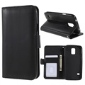 Samsung Galaxy S5 Premium Wallet Case with Stand Feature - Black