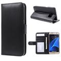 Samsung Galaxy S7 Premium Wallet Case with Stand Feature - Black