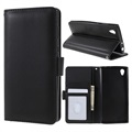 Sony Xperia L1 Premium Wallet Case with Stand Feature - Black