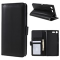 Sony Xperia XZ Premium Wallet Case with Stand Feature - Black
