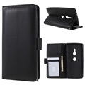 Premium Sony Xperia XZ2 Wallet Case with Stand Feature - Black
