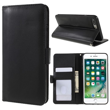 iPhone 6 Plus/6S Plus Premium Wallet Case with Stand Feature - Black