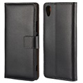 Premium Sony Xperia XA1 Wallet Case with stand feature - Black