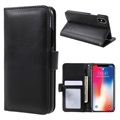 iPhone X Premium Wallet Case with Kickstand Feature - Black