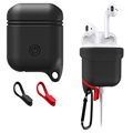 Apple AirPods / AirPods 2 Premium Water Resistant Silicone Case - Black