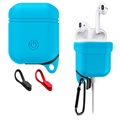 Apple AirPods / AirPods 2 Premium Water Resistant Silicone Case - Blue
