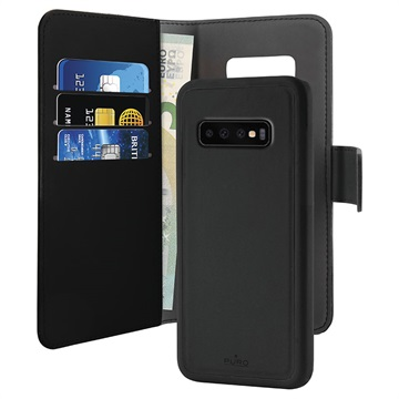 Puro 2-in-1 Samsung Galaxy S10+ Detachable Wallet Case - Black