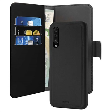 Puro 2-in-1 Samsung Galaxy A50 Magnetic Wallet Case - Black