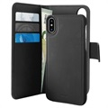 Puro 2-in-1 iPhone X / iPhone XS Detachable Wallet Case - Black