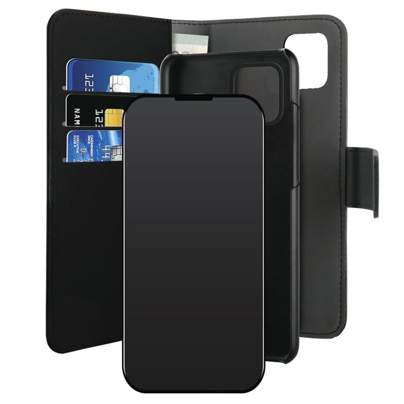 Puro 2-in-1 Magnetic iPhone 12/12 Pro Wallet Case - Black