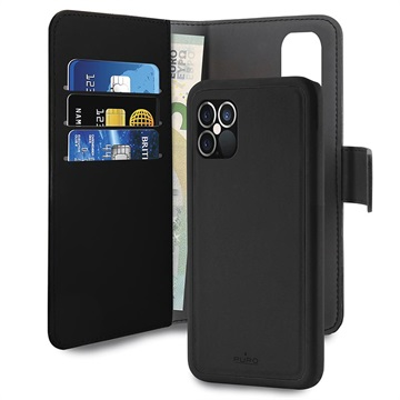 Puro 2-in-1 Magnetic iPhone 12 Pro Max Wallet Case - Black