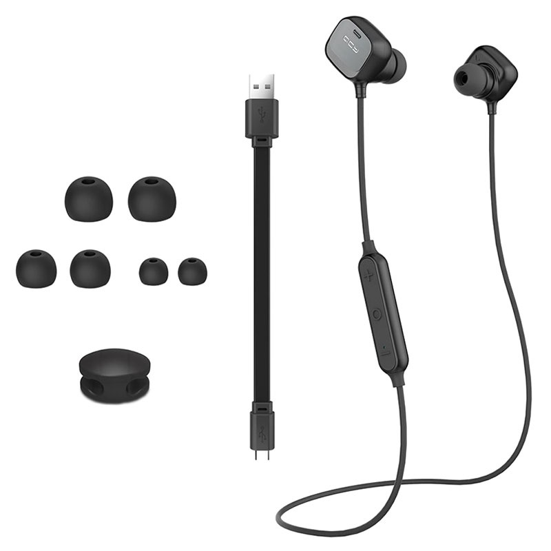 QCY QY12 Magnetic Bluetooth Headset - Black