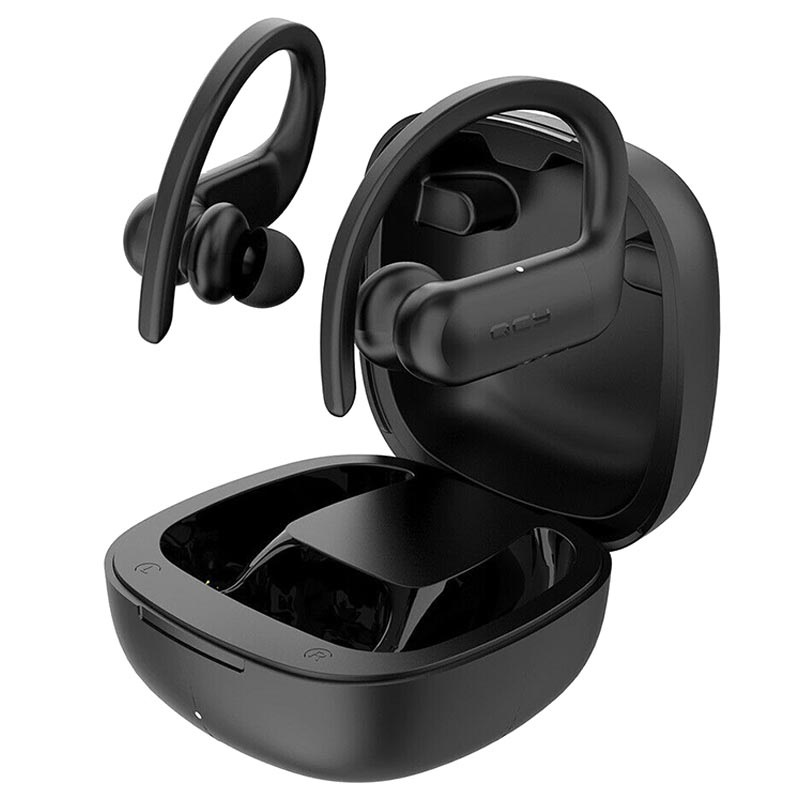 QCY T6 TWS Wireless Earphones with Charging Base - Black